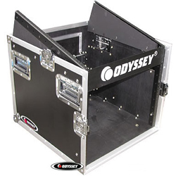 Odyssey FZ1008 Flight Zone ATA Combo Rack 10u Top Slanted & 8u Bottom Vertical Rack Spaces