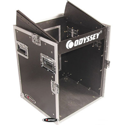 Odyssey FZ1012 Flight Zone ATA Combo Rack 10u Top Slanted & 12u Bottom Vertical Rack Spaces