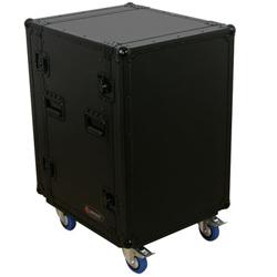 Odyssey FZAR16WBL Black Label 16 Space Amp Rack with Wheels