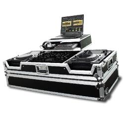 Odyssey FZGS22000W Flight Zone Glide Style DJ Coffin for Pioneer DJM-2000 & 2 Large Format CD/Media Players