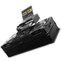 Odyssey FZGS22000WBL Black Label Flight Zone Glide Style DJ Coffin for a Pioneer DJM-2000 & 2 CD/Media Players