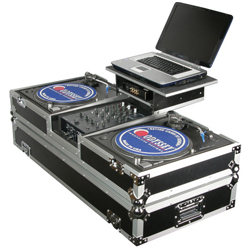 """Odyssey FZGSBM10W Glide Style Coffin Case for 10"""" Mixer and Two Turntables"""