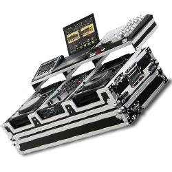 """Odyssey FZGSP10CDJW Flight Ready Case For Two Large Format Table Top Media Players & 10"""" Mixer"""
