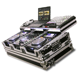 """Odyssey FZGSP12CDJW Flight Ready Case For Two Large Format Table Top CD Players and a 12"""" Mixer"""