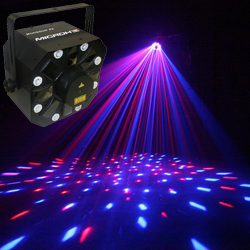 Microh DJ MONSOON FX LED Moonflower Effect with strobes and lasers (Discontinued Clearance)