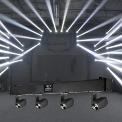Microh LED VIXION QUAD 4x10 Watt Quad RGBW Mini Beam Moving Head LED Fixture