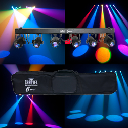 Chauvet DJ 6SPOT LED spot light bar with 6 3W Tri colour LEDs