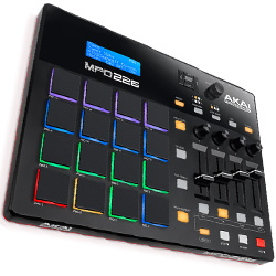 Akai MPD226 MIDI-over-USB Pad Controller with 36 Assignable Controls Accessible Via 3 Banks