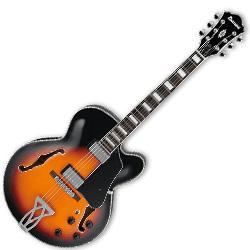Ibanez AF75-BS 6 String Hollowbody Electric Guitar in Brown Sunburst