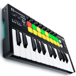 Novation Launchkey Mini MK2 Portable and Compact Mini MIDI Keyboard Controller