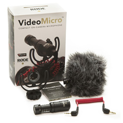 Rode VideoMicro Compact Cardioid Condenser Microphone for Video
