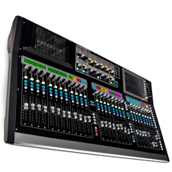 Allen & Heath GLD-112 Chrome Edition Mixer with Six Compressor Models on Channels & 3 Banks of Fader Strips
