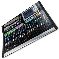 Allen & Heath GLD-80 Chrome Edition Mixer with Automatic Mic Mixing and 2 Banks of Fader Strips