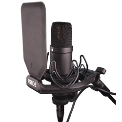 "Rode NT1-KIT 1"" Cardioid Condenser Microphone with SMR Shockmount"