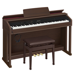 Casio AP460BN 88 Key Digital Piano with Cabinet and Bench in Oak Tone Brown Finish