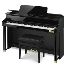 Casio GP500BP Celviano Grand Hybrid Piano in Polished Black Finished