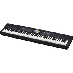 Casio PX360BK 88 Key Hammer Action Keyboard with Touch Screen in Black