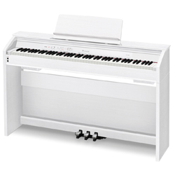 Casio PX860WE 88 Key Digital Piano in White Wood Tone Finish with Cabinet Stand and Pedals