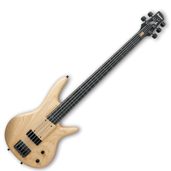 Ibanez GWB205-NTF Gary Willis Signature Premium 5 String Bass Guitar in Natural Flat Finish