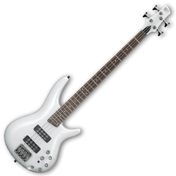Ibanez SR300E-PW-d SR Series 4 String Bass Guitar in Pearl White (discontinued clearance)  (Prior Year Model)