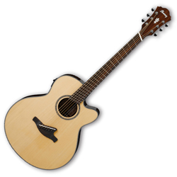 Ibanez AELFF10-NT AEL Series 6 String Fanned Fret Acoustic Electric Guitar (discontinued clearance)