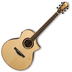 Ibanez AEW51-NT AEW Series 6 String Acoustic Electric Guitar in Natural High Gloss Finish (discontinued clearance)