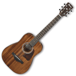 Ibanez AW54MINIGB-OPN Artwood 6 String Mini Dreadnought Acoustic Guitar in Open Pore Natural (Discontinued Clearance)