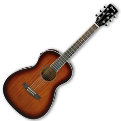 Ibanez PN12E-VMS 6 String Acoustic Electric Guitar in Vintage Mahogany Sunburst High Gloss Finish
