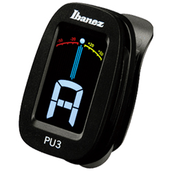 Ibanez PU3-BK Black Clip on Chromatic Tuner with LCD Display