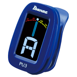 Ibanez PU3-BL Blue Clip on Chromatic Tuner with LCD display