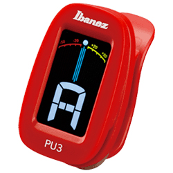 Ibanez PU3-RD Red Clip on Chromatic Tuner with LCD display