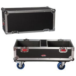 Gator G-TOUR SPKR-2K8 Tour Style Case for Two QSC K8 Speakers with Accessory Compartment