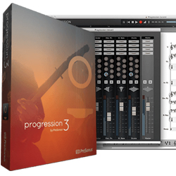 Presonus Progression 3 Music Notation Software for Guitar, Bass, Drums and Keyboard - (e-licence)