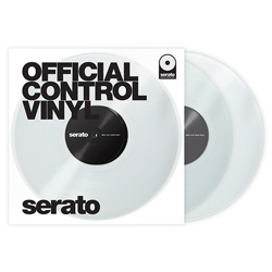 Serato SCV-PS-CLE-OV Pair of Clear 12 Inch Control Vinyls