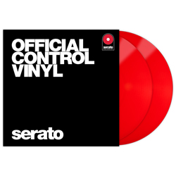 Serato SCV-PS-RED-OV Pair of Red 12 Inch Control Vinyls