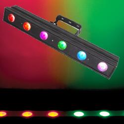 Chauvet Pro COLORDASH BATTEN QUAD 6 Quad Colour Linear Wash Light with 6 5W Quad Color RGBA LEDs