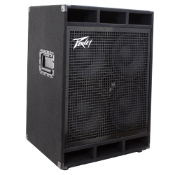 "Peavey 03615100 PVH 410 600W Bass Amplifier Cabinet with Two Heavy Duty 12"" Speakers"