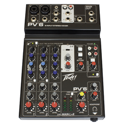 Peavey 03612570 PV 6 Reference-Quality Mic Preamp 6 Channel Professional Mixer