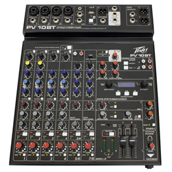 Peavey PV 10 BT 10 Channel Mixer with Digital Effects and Bluetooth