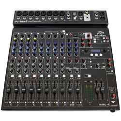 Peavey 03614200 PV 14 BT Mixer with Bluetooth and Digital Effects