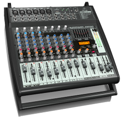 Behringer PMP500 Europower Series 500W 12 Channel Powered Mixer with KLARK TEKNIK Multi-FX Processor
