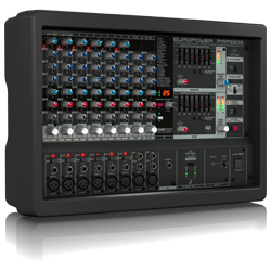 Behringer PMP580S Europower Series 500W 10 Channel Powered Mixer with KLARK TEKNIK Multi-FX Processor