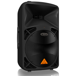 "Behringer B612D Eurolive Series Active 2 Way 1500W PA Speaker System with 12"" Woofer"
