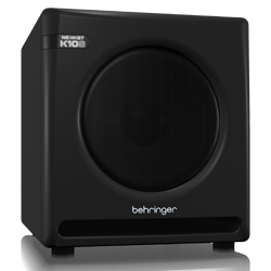 "Behringer K10S Nekkst Series 300W Audiophile 10"" Studio Subwoofer with High Excursion Woofer"