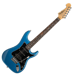 Washburn S2HMBL-A Sonamaster Series 6 String Electric Guitar in Metallic Blue Finish (discontinued clearance)