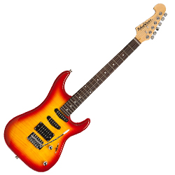 Washburn S3HXRS Sonamaster S3HX Series 6 String Electric Guitar in Red Sunburst Finish