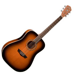 Washburn WD7SATB-W Harvest Series 6 String Acoustic Guitar (discontinued clearance)