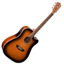 Washburn WD7SCEATB Acoustic Electric RH 6STR Guitar
