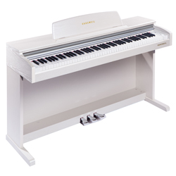Kurzweil M210 WH 88-Note Fully Weighted Graded Hammer Action Upright Digital Piano in White