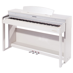 Kurzweil CUP220 WH Andante Series 88 Key Upright Digital Piano with Advanced Chip in White